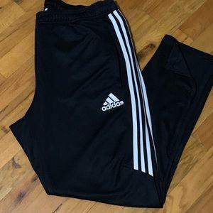 Adidas Men's Black Ankle Zip Sweatpants Size XL